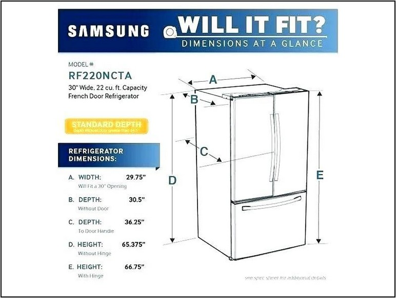 What Is The Width Of A Standard Size Refrigerator
