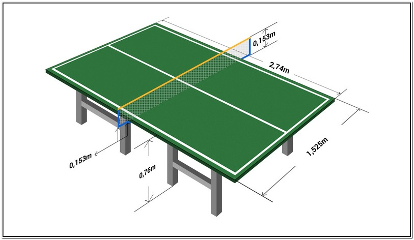 Ping Pong Table Dimensions Cm