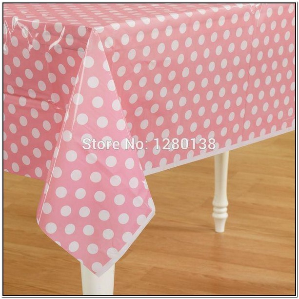 Pink Disposable Table Cloths