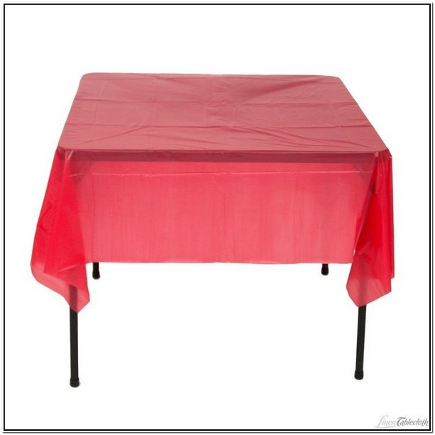 Red Disposable Table Cloths
