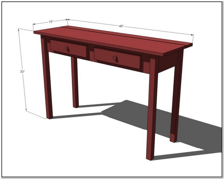 What Is A Console Table Height