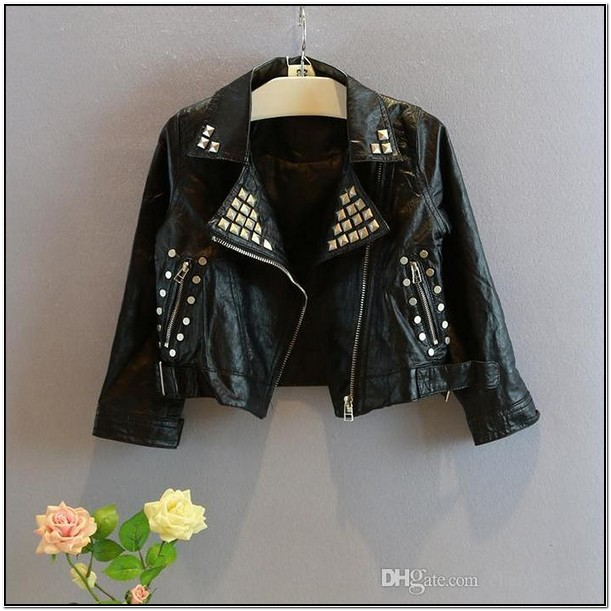 Baby Girl Leather Jacket With Fur