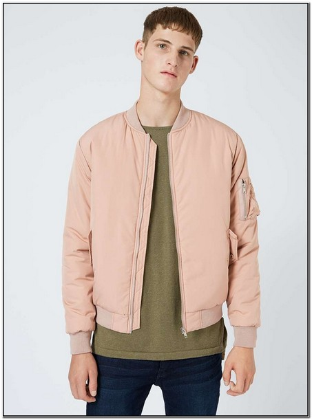 Baby Pink Bomber Jacket Mens