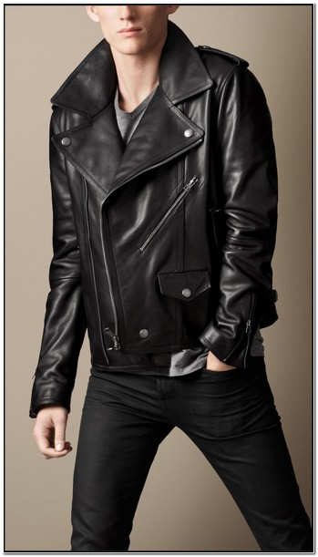 Burberry Mens Leather Jacket