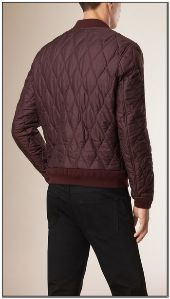 Burberry Mens Quilted Bomber Jacket