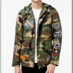 Camo Jacket With Patches Mens