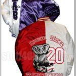 Custom Greek Satin Baseball Jacket