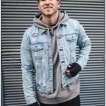 Denim Jacket And Hoodie Outfit Mens