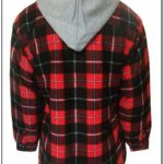 Fleece Lined Flannel Jacket With Hood