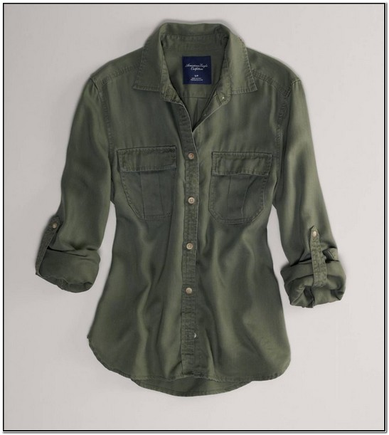 Green Utility Shirt Womens