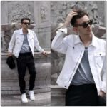 H&m Mens White Denim Jacket