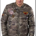 Juice Camo Bomber Jacket With Patches