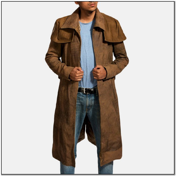 Leather Duster Jacket Mens