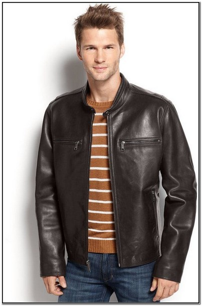 Macys Leather Moto Jacket Mens