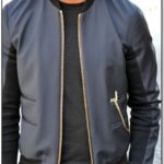 Mens Bomber Jacket Gold Zip