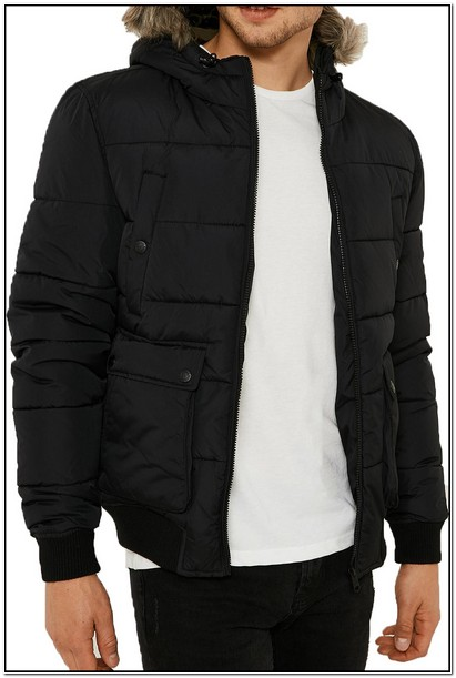 Mens Puffer Jacket With Fur Hood