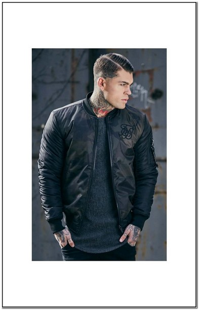 Mens Sik Silk Bomber Jacket