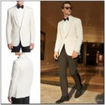 Mens White Tuxedo Jacket Black Pants