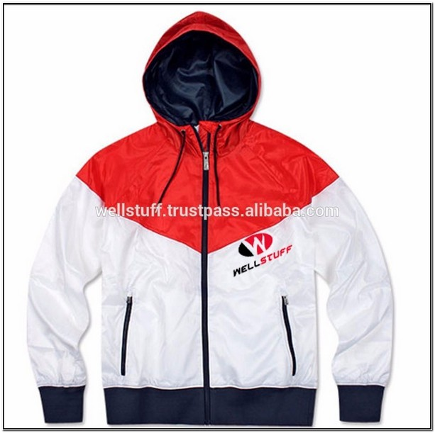 Mens Windbreaker Jacket With Hood