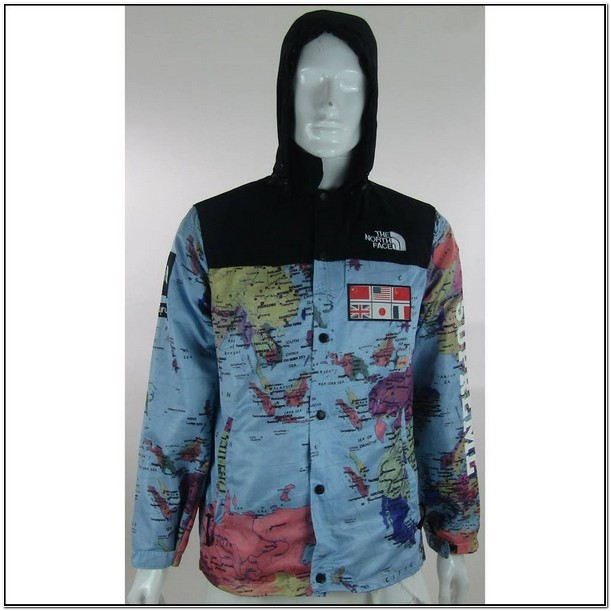 North Face Supreme World Map Jacket Price