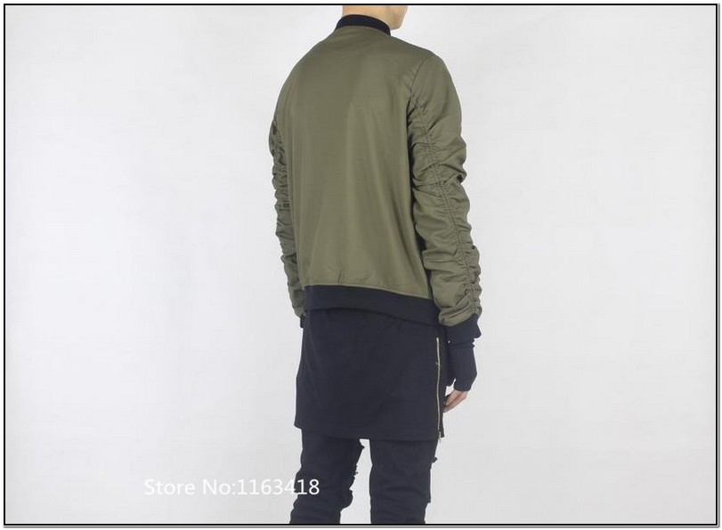 Olive Green And Black Bomber Jacket Mens