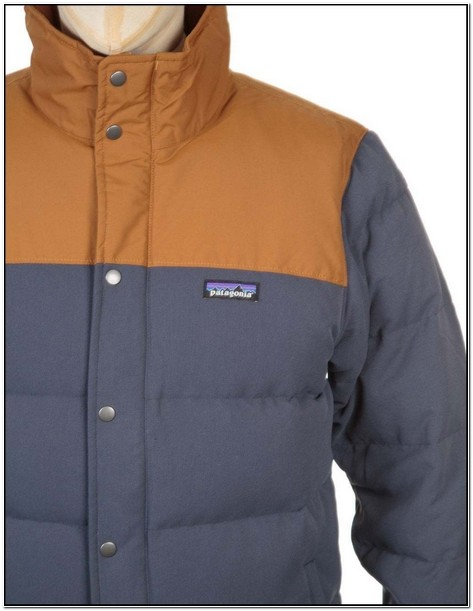 Patagonia Mens Bivy Down Jacket Smolder Blue