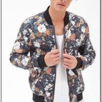 Satin Floral Bomber Jacket Mens