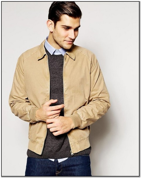 Tan Bomber Jacket Mens