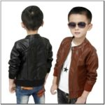 Toddler Boy Brown Leather Jacket